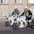 Stock Photo: Motorized policemen