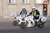Motorized policemen — Stock Photo