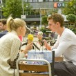 Stock Photo: Street ice cream cafe