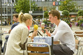 Street ice cream cafe — Stock Photo