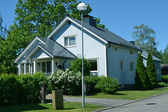 Scandinavian private house — Stock Photo
