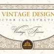 Vector certificate or coupon template design element. vintage la — Stock Vector