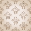 Seamless wallpaper vector curves vintage background - Stock Vector