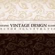 Royalty-Free Stock Vectorielle: Vector vintage wallpaper. Gift wrap. Floral background with orna