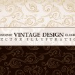 Vector vintage wallpaper. Gift wrap. Floral background with orna - Stock Vector