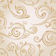 Seamless vector curves wallpaper. Vintage background - Stock Vector