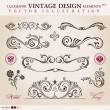 Vector set classic. Calligraphic design elements ornament decora - Stock Vector