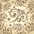 Seamless vector flowers wallpaper. Vintage background — Imagens vectoriais em stock