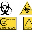 Stock Vector: Bio hazard Cytotoxic and Chemotherapy symbols