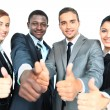 Business group with thumbs up isolated over white background — Stock Photo #11782314