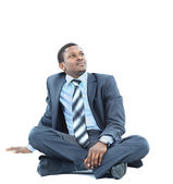 Afro-american businessman relaxing — Stock Photo
