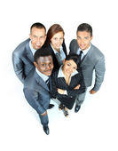 Grand groupe d'entreprise. sur fond blanc — Photo