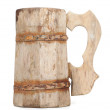 Old Vintage Wooden Mug - Stock Photo