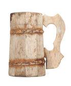 Old Vintage Wooden Mug — Stock Photo