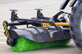 Street Sweeper Broom — Stock Photo