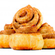 sweet cinnamon buns — Stock Photo
