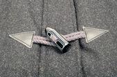 Chiusura toggle di corno con anello di corda — Foto Stock