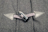 Horn Toggle Fastener with Rope Loop — Stock Photo