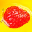 Red Strawberry in Water — Stock Photo #11387862