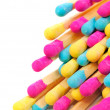 Multicolored Matches on White Background - Stock Photo