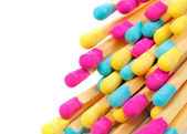 Multicolored Matches on White Background — Stock Photo
