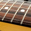 Electric Guitar Strings Close-up — Stock Photo