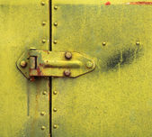 Hinge on Old Rusty Metal Door — Stock Photo