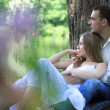 Young couple in love outdoors — Stock Photo #10781162