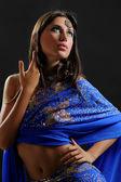 Indian sari — Stock Photo