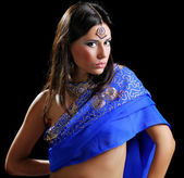 Indian sari — Stock Photo