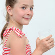 Girl with a milk - Stock Photo