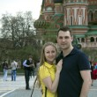Young couple in the Moscow city — Stock Photo #11769893