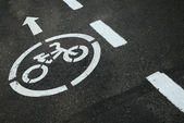 Bicycle Road Sign — Foto de Stock