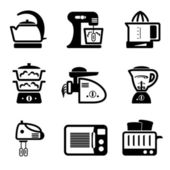 Kitchenware icons — Stok Vektör