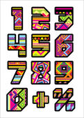 Mexican numbers — Stock Vector