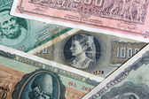 Set of old Greece banknotes — Stock Photo