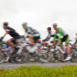 Bike race, blurred - Stock Photo