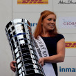 Galway Rose, Annde Paor holding Volvo OceRace trophy — Stock Photo #11808557