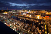 Galway Docks, Race Village at night. — Stock Photo