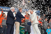 Franck Cammas skipper of Groupama team with Volvo Ocean Race Tro — Foto de Stock