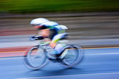 Cyclist , blurred motion — Stock Photo