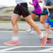 Runners, blurred motion - Stock Photo