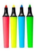 Renkli fosforlu kalemler — Stok fotoğraf