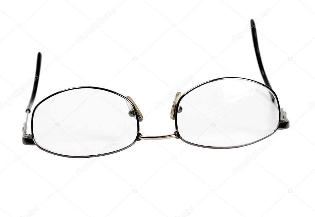 Spectacles isolated on white background — Stockfoto #10970390