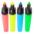 Colored highlighters — Stock Photo