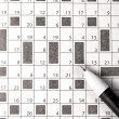 Crossword in newspaper — Stock Photo