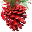 Christmas pine cone - Stock Photo