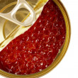Caviar in can top — Stock Photo