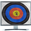Monitor screen dartboard purpose — 图库照片
