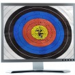 Monitor screen dartboard purpose — Stockfoto